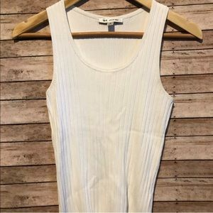 St John white ribbed sleeveless top